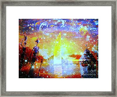 Keep The Slave Monument In Goree Clean Framed Print by Fania Simon