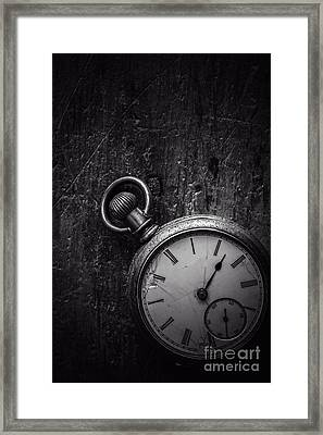 Keeping Time Black And White Framed Print by Edward Fielding