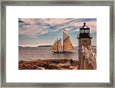 Keeping Vessels Safe Framed Print by Karol Livote