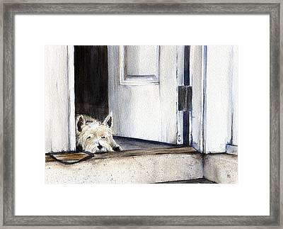 Keeping Watch Framed Print by Michelle Sheppard