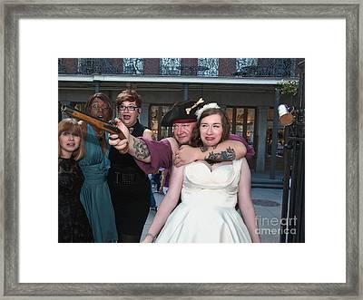 Keira's Destination Wedding - The Pirate Part Framed Print by Kathleen K Parker