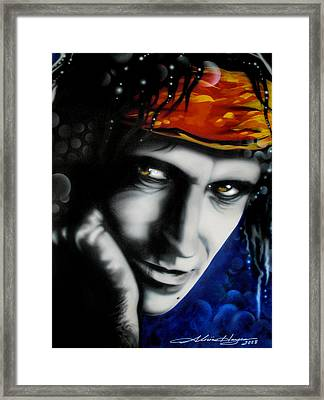 Keith Richards Framed Print by Alicia Hayes
