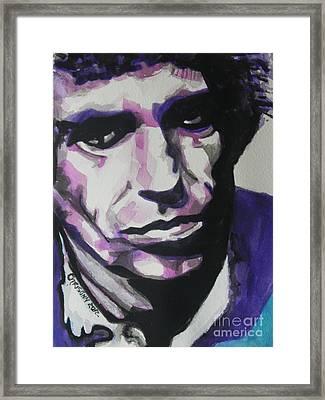 Keith Richards Framed Print by Chrisann Ellis