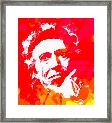 Keith Richards Framed Print by Dan Sproul