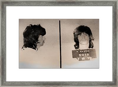 Keith Richards Mugshot - Keith Don't Go Framed Print by Bill Cannon