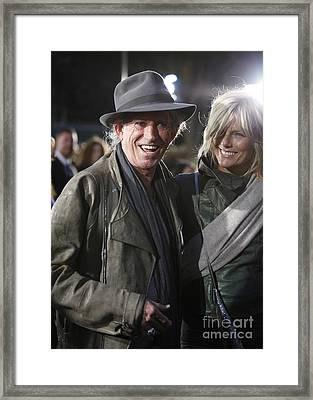 Keith Richards Framed Print by Nina Prommer