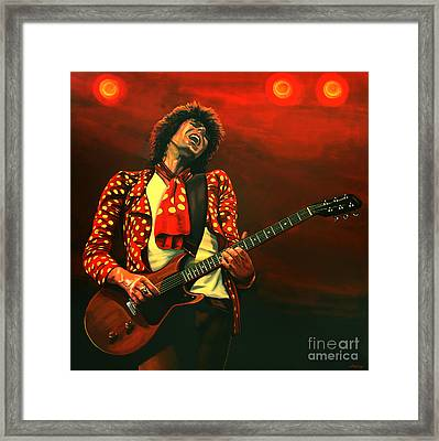 Keith Richards Painting Framed Print by Paul Meijering