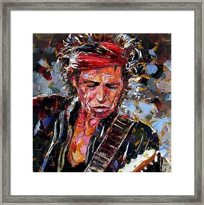 Keith Richards Portrait Framed Print by Debra Hurd