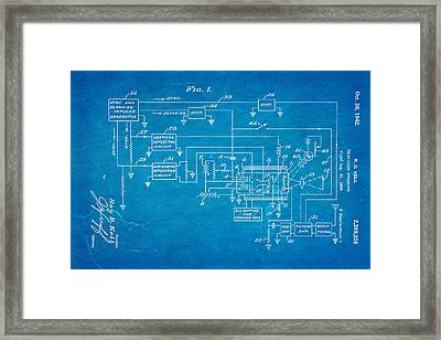 Kell Color Television Patent Art 1942 Blueprint Framed Print by Ian Monk