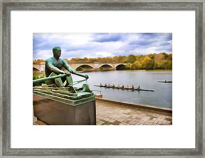 Kelly At The Oars Framed Print by Alice Gipson