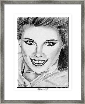 Kelly Emberg In 1983 Framed Print by J McCombie