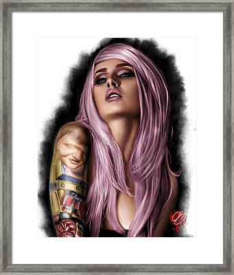 Kelly Framed Print by Pete Tapang