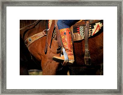 Kelly's Boot Framed Print by Nathaniel Kidd