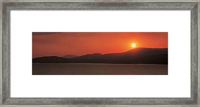 Kenmare River At Sunset Ireland Framed Print by Panoramic Images