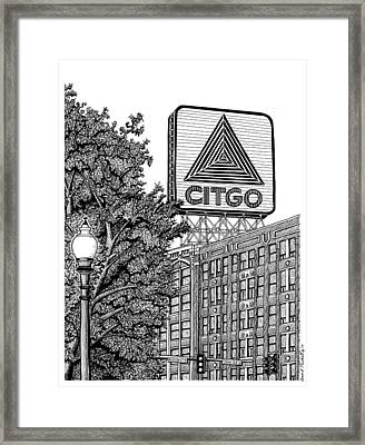 Kenmore Square Citgo Sign Framed Print by Conor Plunkett
