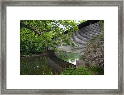 Kennedy Bridge On French Creek Framed Print by Bill Cannon