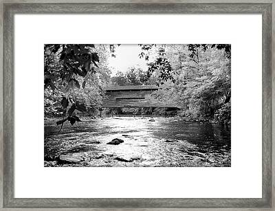 Kennedy Covered Bridge - Infrared Framed Print by Bill Cannon