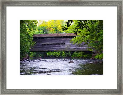Kennedy Covered Bridge - Kimberton Pa. Framed Print by Bill Cannon