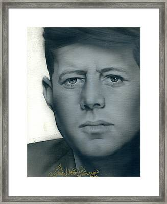 Kennedy Framed Print by Luis  Navarro