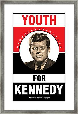 Kennedy Political Poster Framed Print by Gary Grayson