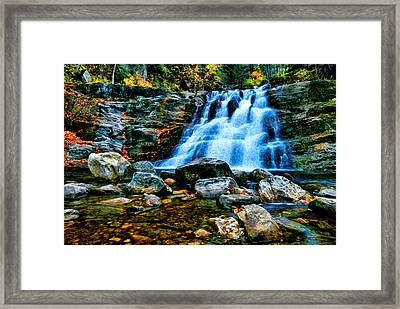 Kent Falls Connecticut Framed Print by Sabine Jacobs