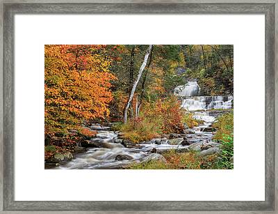 Kent Falls State Park Framed Print by Bill Wakeley
