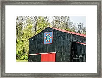Kentucky Barn Quilt - 2 Framed Print by Mary Carol Story