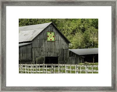 Kentucky Barn Quilt - 3 Framed Print by Mary Carol Story