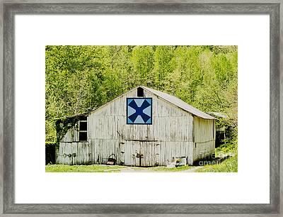 Kentucky Barn Quilt - Windmill Framed Print by Mary Carol Story