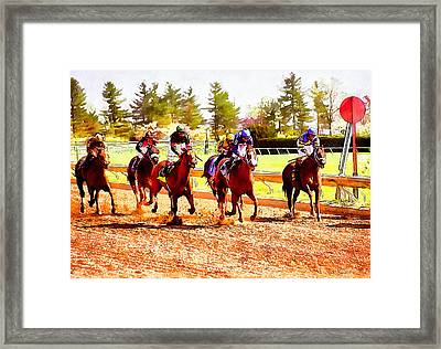 Kentucky Derby Framed Print by Kai Saarto