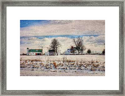 Kentucky Snow Day Framed Print by Darren Fisher