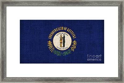 Kentucky State Flag Framed Print by Pixel Chimp