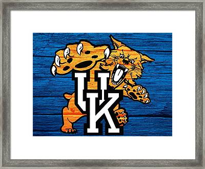 Kentucky Wildcats Barn Door Framed Print by Dan Sproul