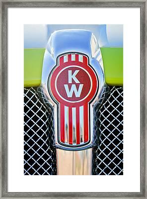 Kenworth Truck Emblem -1196c Framed Print by Jill Reger