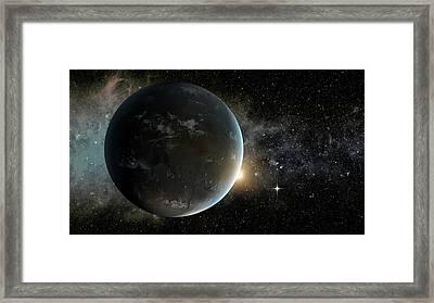 Kepler-62f Framed Print by Nasa/ames/jpl-caltech