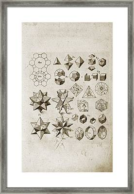Kepler On Polyhedral Geometry Framed Print by Library Of Congress