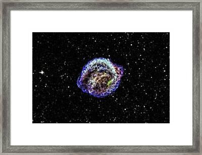 Kepler Supernova Remnant Framed Print by Nasa