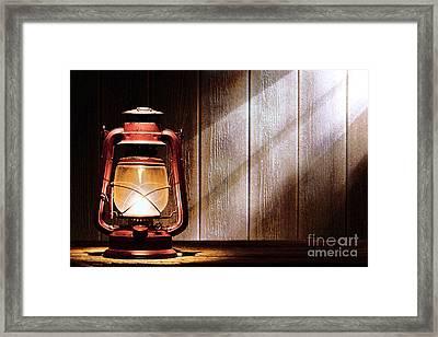 Kerosene Lantern Framed Print by Olivier Le Queinec