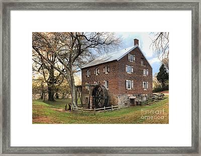 Kerr Grist Mill Framed Print by Adam Jewell