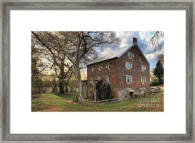 Kerr Grist Mill At Sloan Park Framed Print by Adam Jewell