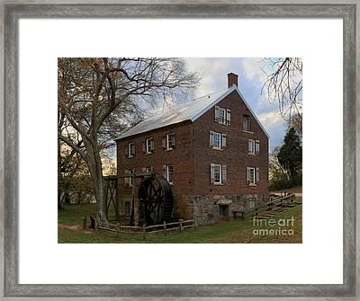 Kerr Grist Mill Closeup Framed Print by Adam Jewell