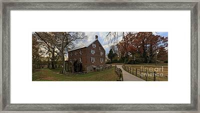 Kerr Grist Mill Fall Panorama Framed Print by Adam Jewell