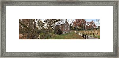 Kerr Grist Mill Landscape Panorama Framed Print by Adam Jewell