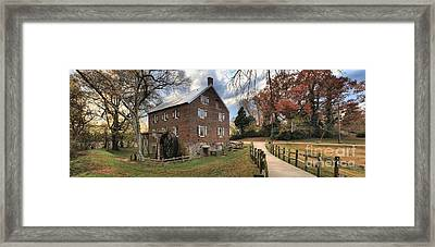 Kerr Grist Mill Panorama Framed Print by Adam Jewell