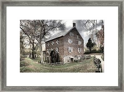 Kerr Gristmill In North Carolina Framed Print by Adam Jewell