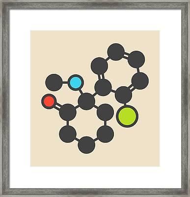 Ketamine Anesthetic Drug Molecule Framed Print by Molekuul