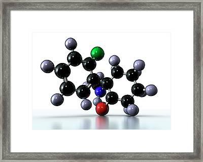 Ketamine Drug Framed Print by Animate4.com/science Photo Libary