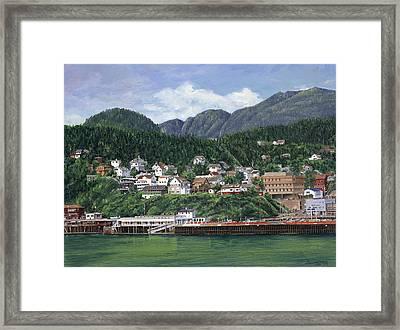 Ketchikan Alaska Framed Print by Don  Langeneckert