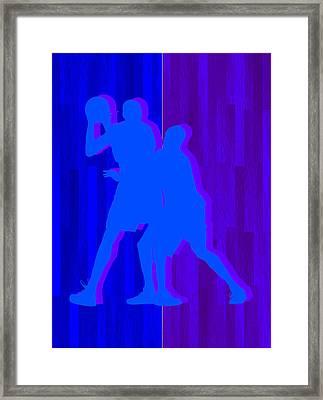 Kevin Durant Kobe Bryant Framed Print by Joe Hamilton