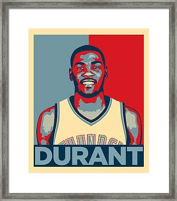 Kevin Durant Framed Print by Taylan Soyturk